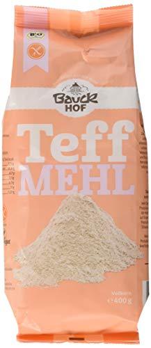 Bauckhof Teffmehl Vollkorn glutenfrei, 2er Pack (2 x 400 g) - Bio