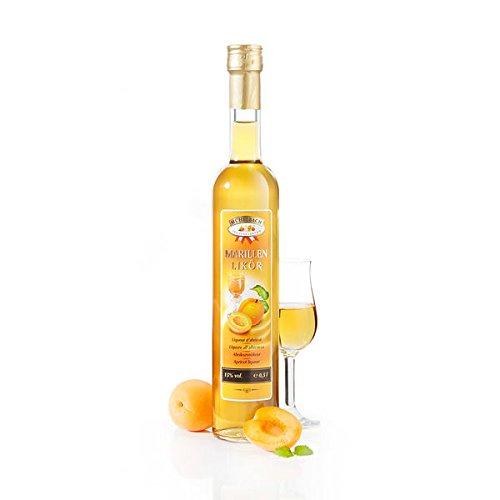 Fruchtiger Marillenlikör mit 15% Alkohol in der 0,5 Liter Flasche von Mühlebach