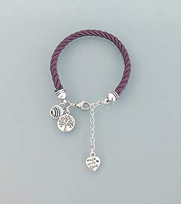Bracelet arbre de vieBracelet femme violine arbre de vie et perle à parfumer, bracelet femme, bijoux, bracelet arbre de vie, idée cadeau femme, bijoux cadeaux