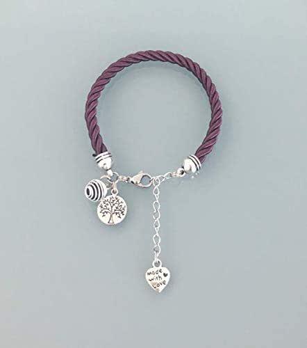 Bracciale donna viola albero della vita e profumo perla, bracciale donna, gioielli, bracciale albero della vita, idea regalo donna, gioielli regali