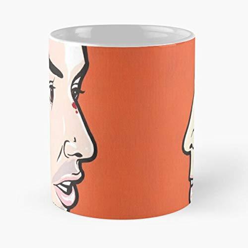 Ex Presidents Bank Robbers Surfing Pop Art Bestseller Mode Geschenk Kaffeetasse schwarz, weiß, Farbe ändern 11 Unzen, 15 Unzen für alle