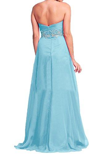 Victory bridal tendance hi-lo forme courte abendkleider tanzkleider sommerkleider brautjungfernkleider chiffon Bleu