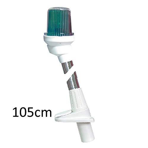 Lalizas Stablaterne Dreifarbenlaterne Gehäuse weiß Licht grün/rot/weiß, Stablaterne:Steckverbindung 105cm
