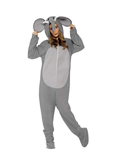 Smiffys, Unisex Elefanten Kostüm, All-in-One mit Kapuze, Größe: M, 27827 (Unisex Kostüme)