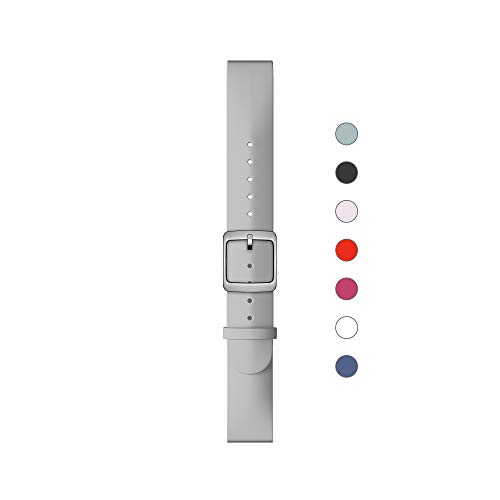 Withings Summer Edition Correa para Reloj, Unisex Adulto, Gris & Hebilla Plateada, 36 mm