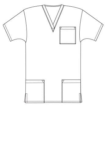 Medizinische Uniformen Unisex Top Krankenschwester Krankenhaus Berufskleidung 601 Color Nvy | Talla: M - 6
