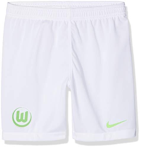 Nike Kinder VFL Wolfsburg Breathe Stadium Home/Away Shorts, White/Green Strike, S -