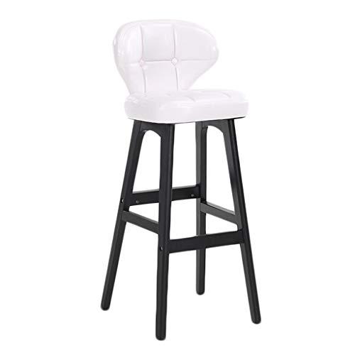 KAI LE Barhocker/Barhocker / Moderne minimalistische Persönlichkeit Barhocker Kreative Massivholz Stuhl Home Wohnzimmer Barhocker (Farbe : 68cm-White)