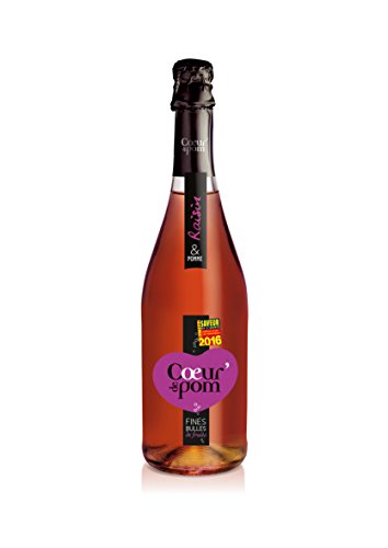 Cœur de Pom Fines Jus/Bulles de Fruits Pommes Raisin 750 ml