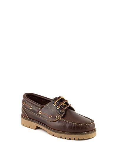 Zapatos Nauticos Timber de Piel Seahorse Engrasada. Modelo Clasico. Piso Color Caramelo - PAYMA