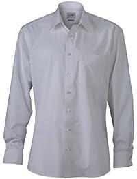 JAMES & NICHOLSON - chemise manches longues - sans repassage - col new kent non boutonné - JN622 - Homme