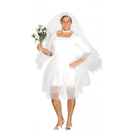 Imagen de disfraz de novia hombre talla l