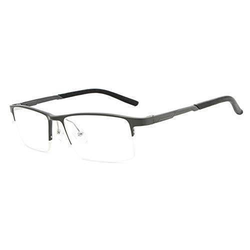 Neue Aluminium-Magnesium Ultraleicht blau licht Flache Spiegel gläser Rahmen Mode straße Hipster männer Brille (Color : Gun)