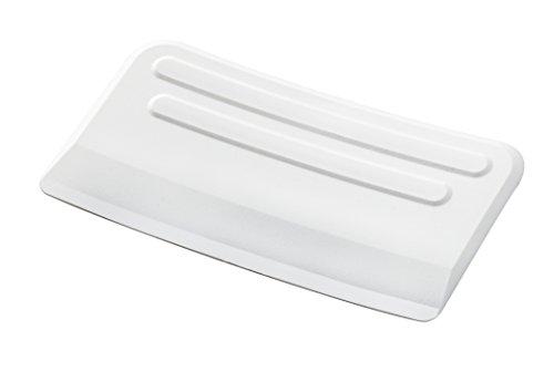 WENKO 7730100 Recipiente para recoger las basuras - con rascador, Plástico - PP, 32.5 x 9 x 17.5 cm, Blanco