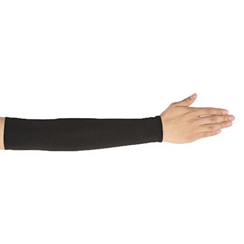 Damen Kurzarm,Frashing Unisex UV Schutz Sleeves Arm Cooling Sleeves Eis Seide Arm Cover Sleeves (H)