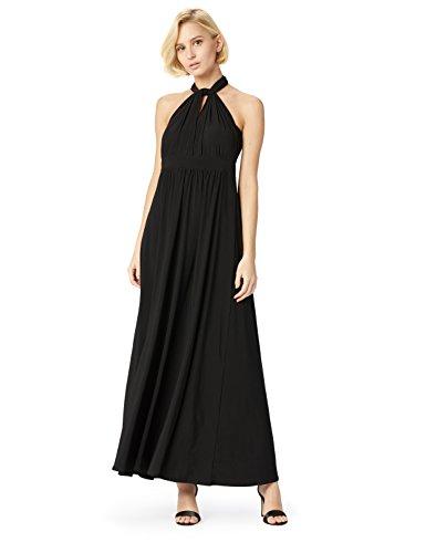 TRUTH & FABLE Damen Kleid Ballkleid Lang, Schwarz (Black), 38 (Herstellergröße: Medium)