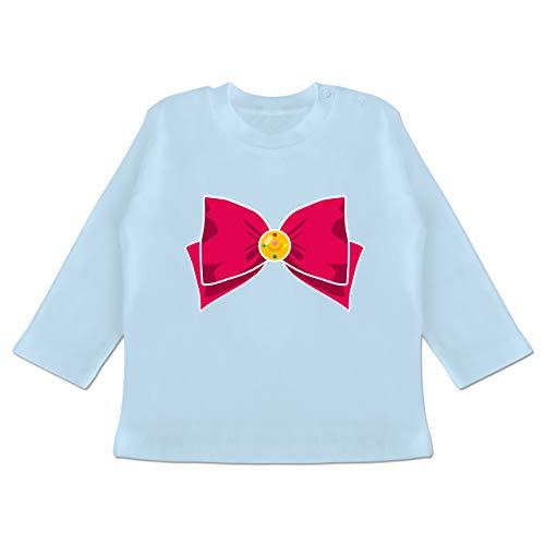Karneval und Fasching Baby - Superheld Manga Moon Kostüm - 18-24 Monate - Babyblau - BZ11 - Baby T-Shirt Langarm