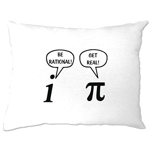 Tim And Ted Neuheit Math Kissenbezug Sei rational! Get Real! Streit White One Size