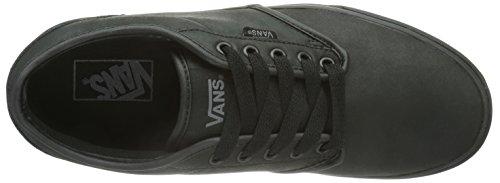 Vans ATWOOD Herren Sneakers Schwarz ((Leather)Blk/Bl L3B)