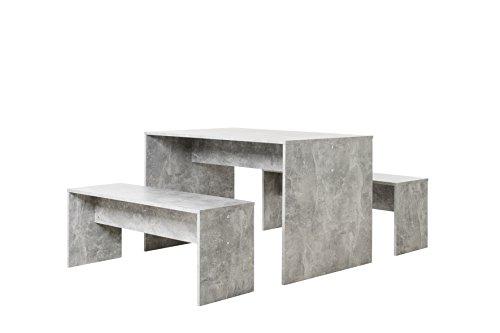 Tischgruppe Set 120 - Küchentisch (verschiedene Farben) Bänke komplett verstaubar (Esszimmer Set Bank)