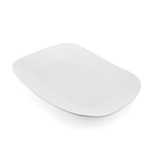 Mikasa White Dish (Mikasa Swirl White Square Rectangular Platter, 15-Inch)