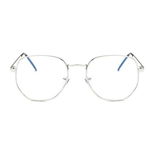 IOSHAPO Fashion Myopie Brille Facelifting Brille Metall Brillengestell Vintage Runde Gläser