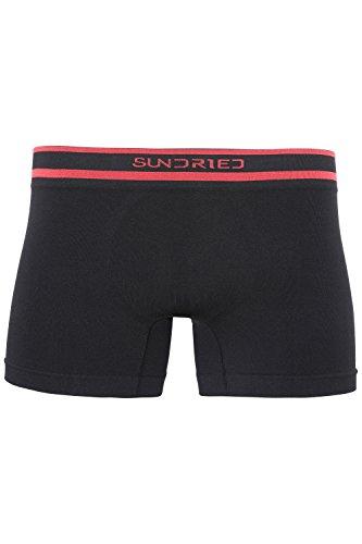 Sundried Mens Seamless Short Boxer Briefs Männer Unterwäsche Nahtlose Snug Fit Performance-scheuernde Free Running, Fitness-Center und Sport (Medium, Black)