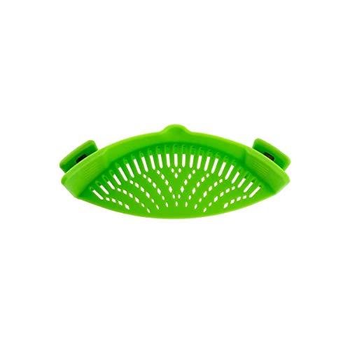 iNeibo Tamiz de Goteo tamiz de Cocina con Abrazadera de Silicona de Primera Calidad para ollas, sartenes y Cuencos. Verde