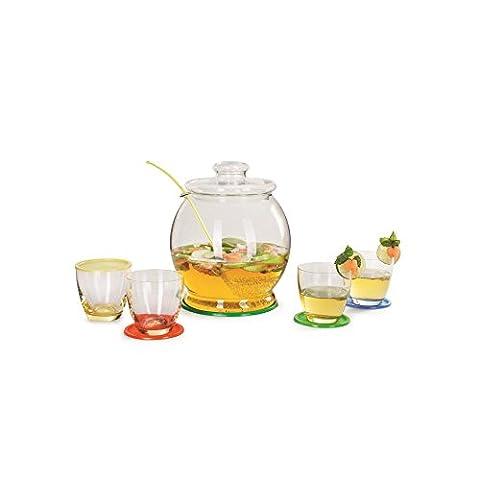 12 teiliges Bowle-Set LIBERTY, für 4,5 Liter, Glas, bunt, la vida