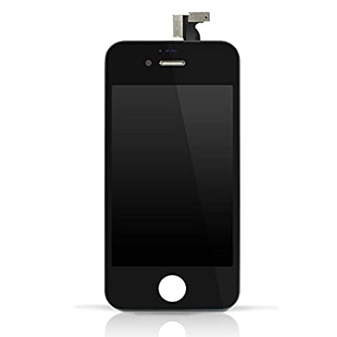 TechnikShop Display für iPhone 4S mit LCD komplett schwarz mit Gitter komplett