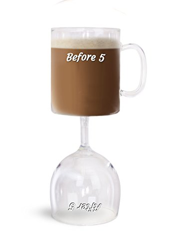 BigMouth Inc The Before n After 5 Coffee and Wine Glass