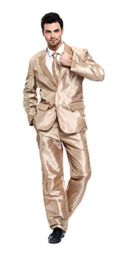 Mann Weihnachten Kostüm - U LOOK UGLY TODAY Herren Anzug Party Weihnachts Kostüm Modisch Normaler Schnitt Festliche Anzüge Party Suits Einfarbig
