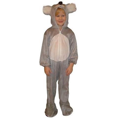 J42 Tamaño 6-7 años traje koala para bebés y niños, cómodo de llevar en la ropa normal
