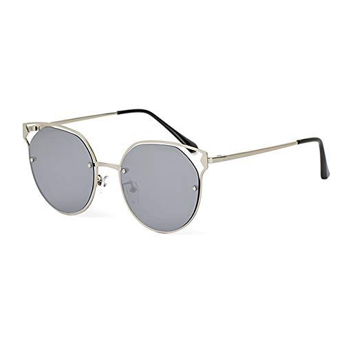 hlq Sonnenbrille, DamenhD-Polarisierter Sonnenbrille, Metallic-Rund-Sonnenbrillen, Cutout-Sonnenbrillen, Einfach, farbig,C