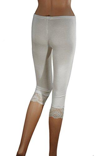 Donna-34-pizzo-Leggings-Capri-Lace-Leggings-cotone-Leggin-si-adatta-36-38