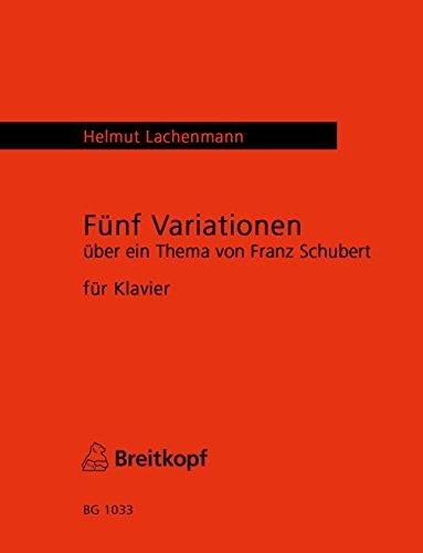 5 Variationen über ein Thema von Franz Schubert für Klavier - Deutscher Tanz in cis-moll D 643/1 (BG 1033)