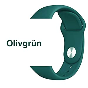 Armband für Apple Watch in Olivgrün 42/44mm passend für Apple Watch 1 2 3 4 5