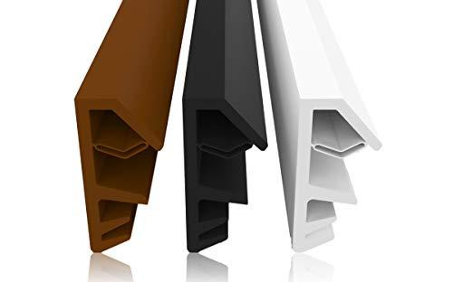 Fensterdichtung gegen Zugluft, Lärm, Staub, spart Heizkosten, Dichtung, 4mm Nutbreite 12mm Falz hochwertige Gummidichtung Holzfensterdichtung Stahlzargendichtung Fenster (Schwarz 5m)