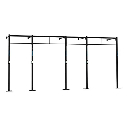 CAPITAL SPORTS Dominate W 580.150 Wall Mount Wandmontage Power Rack Gym Rig Cross-Training Functional-Training Double-Bar Single-Bar Klimmzugstange 407 x 270 x 150 cm (J-Cups 6 x Pull-Up 2 x Squat Station) Stahl schwarz
