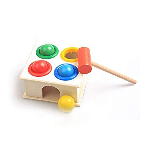 Jullyelegant Baby Beat Toys - Bolas martilleo Madera