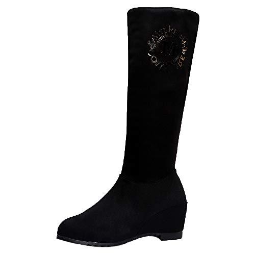Bazhahei donna scarpa,ragazza scarpe alte stivali martin,invernali/autunno tacchi alti scarpe singole stivaletti flat shoes casual con tacco basso stivale,boots moda da donna