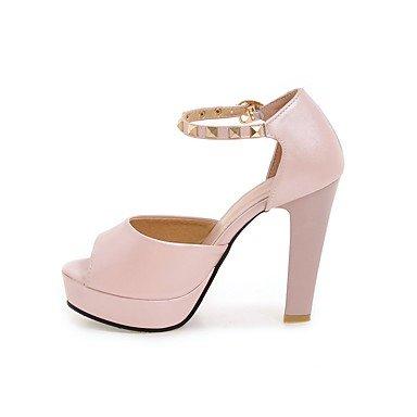 LvYuan Da donna Sandali Comoda Cinturino alla caviglia Finta pelle Estate Formale Serata e festa Comoda Cinturino alla caviglia BorchieA blushing pink