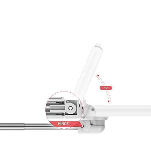 VRS Design Apple iPhone 7 / 8 Hülle mit Cue Selfie Stick Stange | Foto-Stab in Weiß | Foto Hilfe | Smartphone Zubehör | Handy-Case Cover Weiß