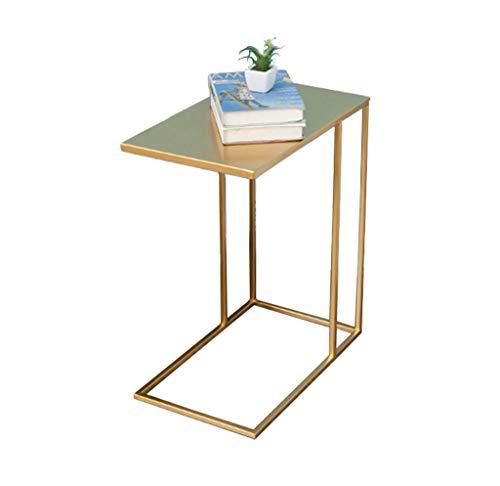 Home-table ZWD Tabelle, Couchtisch, Beistelltisch, Sofa Beistelltisch Nachttisch Schreibtisch Schreibtisch Schminktisch Esstisch Eisen Material Beistelltisch 30 * 50 * 58CM Möbel (Farbe : Gold) -