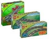 LEGO Duplo Ville Eisenbahn 3775 Weichen und 2734 6 gerade Schienen 2735 6 gebogene Schienen Duplo Minibuch