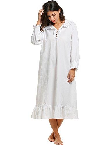 Nachthemd Damen,Sondereu Langarm Baumwolle Elegant Schlafanzüge ...