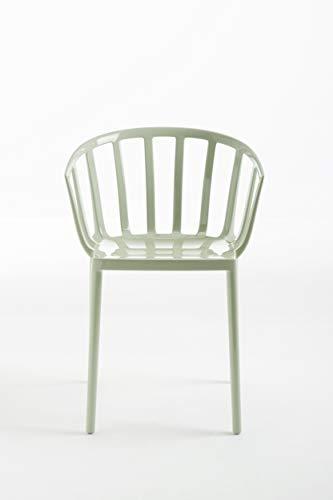 Kartell 5806/14 Venice Chaise - Polycarbonate - Lot de 2 Chaises - 51x75x51 cm - Vert Sauge