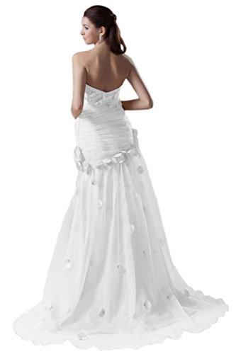 Sunvary Halter, senza uscita anteriore per filo per abiti da sera Eveing Gowns White