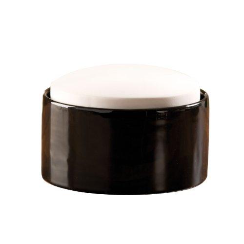 Wenko 52590100 Flat Top - Humidificador pequeño de cerámica (Ø 9 x 6,5 cm), colores blanco/negro