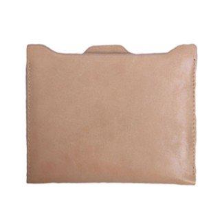 I8Q donne sottili pelle sintetica breve della moneta del portafoglio Cash Card Holders Mini Zipper borsa beige